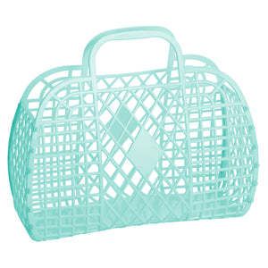Mint Large Retro Basket by Sun Jellies, at A Little Confetti