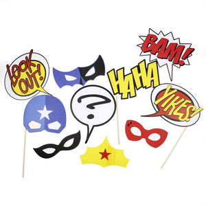 Superhero Photo Props - A Little Confetti