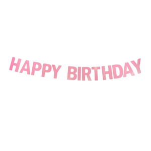 Happy Birthday - Glitter Banner (Other Colours Available) - A Little Confetti