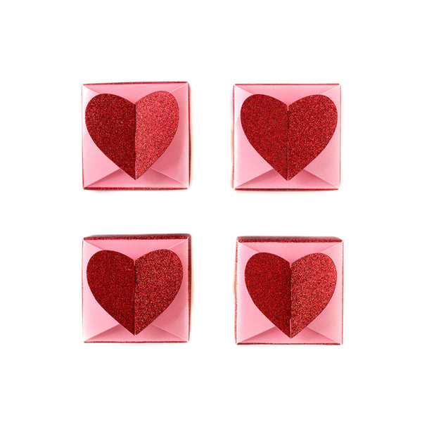 Valentine's Heart Favour Boxes Red and Pink A Little Confetti