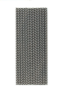 Black Chevron Paper Straws - A Little Confetti