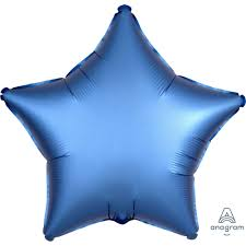 Blue Stain Luxe Star Balloon - A Little Confetti