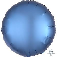 Blue Satin Luxe Circle balloon - A Little Confetti