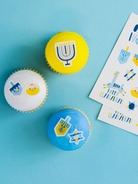 Stickies™  Hanukkah Oy To The World Decorating Stickers | Cupcake and Cake Toppers