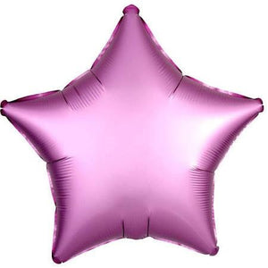Pink Star Satin Luxe Foil Balloon - A Little Confetti