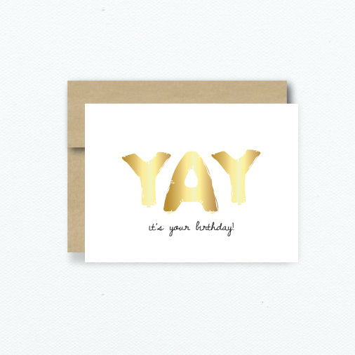 Yay It's Your Birthday - Greeting Card - A Little Confetti