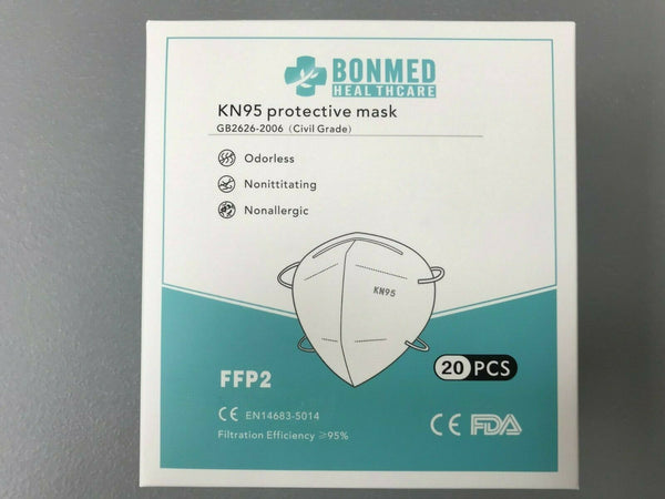 40Pack K-N95 BONMED Face Mask Cover Folding Respirators Protective Masks KN95