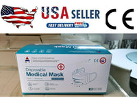 50 PCS Level 1 Face Mask medical Dental Disposable Ear-loop Mouth Cover BFE ≥95%