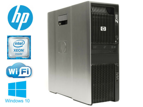 HP Z600 workstation Xeon 2X X5570 2.93GHz 8cores 12GB 180GB SSD+1TB wifi WIN10
