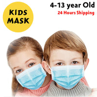 50 PACK Kids Children Disposable Face Mask Mouth & Nose Protective Respirator COVER
