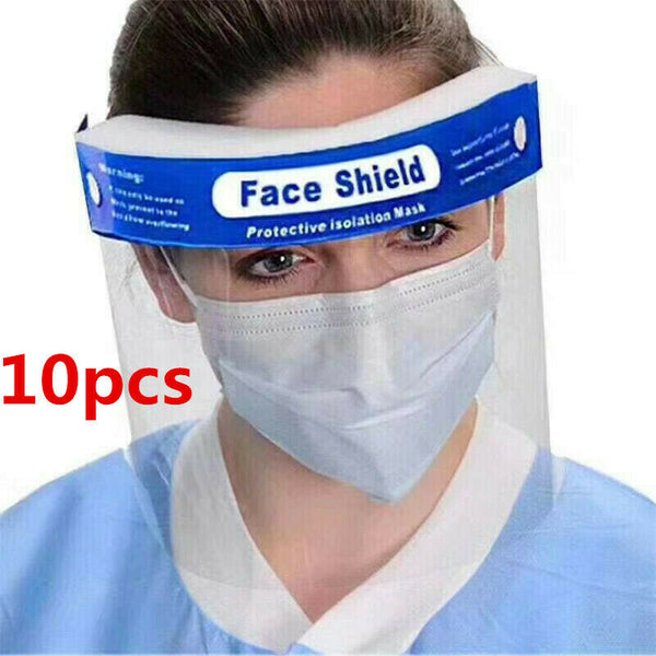 20PCS Safety Full Face Shield Clear Protector Work Industry Dental Anti-Fog