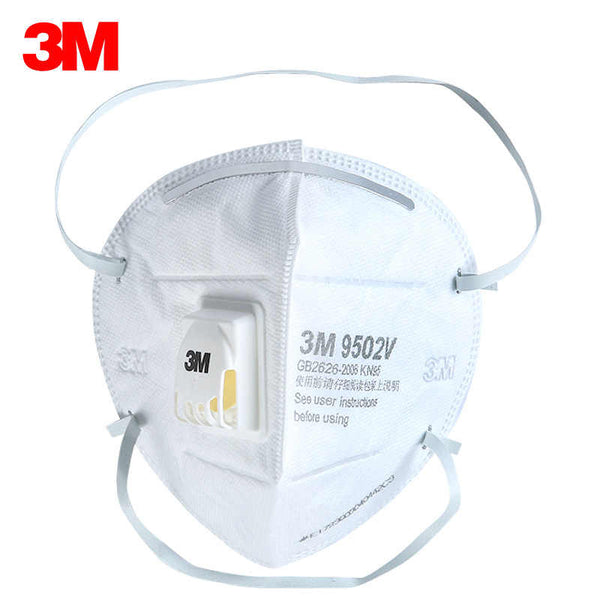 5PCS 3M 9502V+ KN95 Face Mask Disposable Valve Activated Protective Cover