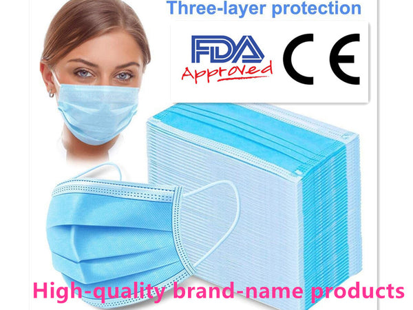 100PCs Clinical Face Mask LEVEL 3 Ply Disposable Masks Anti-Bacteria Ear Loop