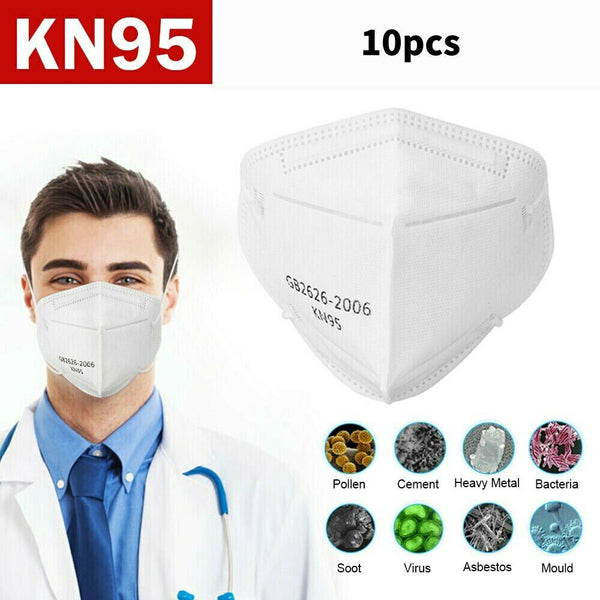 10PCS KN95 Face Mask Disposable Masks Respirator Anti-Bacteria