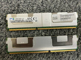 LOT 2 SAMSUNG 64GB 2X 32GB 4Rx4 DDR3 PC3L-14900L SERVER MEMORY RAM R620 R720 G8