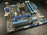 ASUS P8H77-M Rev. 2.00 Intel LGA1155 DDR3 Desktop Motherboard GPU Tested