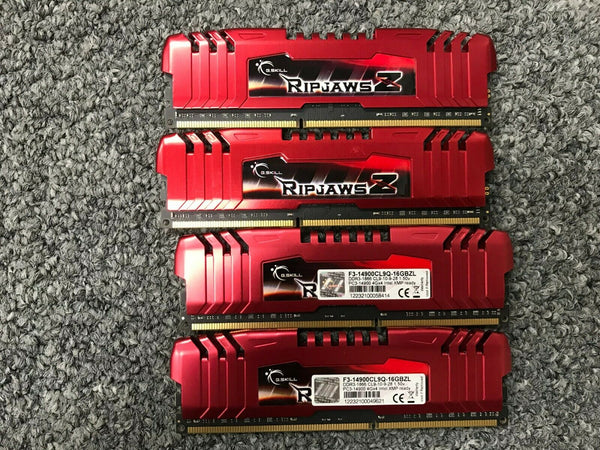 G.Skill 16GB 4x 4GB F3-14900CL9Q-16GBZL PC3-14900 XMP Ready DDR3 -1866