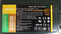 Antec EA-500 Green 500W Continuous Power Switching Power Supply 80 Plus Bronze