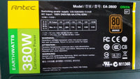 Antec EA-380D Green 380W Continuous Power Switching Power Supply 80 Plus Bronze