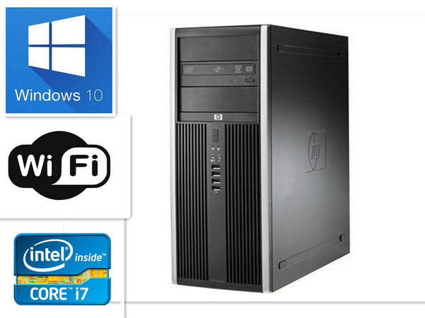 HP Compaq Elite 8300 MT i7-3770 3.40GHz 16GB RAM 180GB SSD+1000GB Win10 Pro WIFI