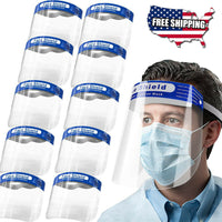 50PCS Safety Full Face Shield Clear Protector Work Industry Dental Anti-Fog