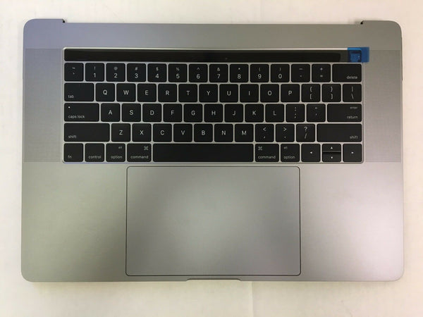 "MacBook Pro A1707 15"" 2016 2017 TopCase Battery Keyboard Trackpad touch A Grey"