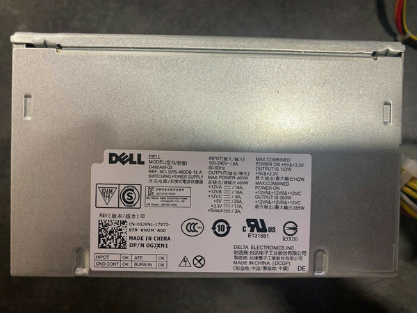 Dell XPS 8910 8920 460W Power Supply D460AM-03 GJXN1