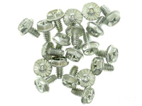 OEM Set lot of 100 Chrome Silver Desktop PC Case Chassis power supply Screws
