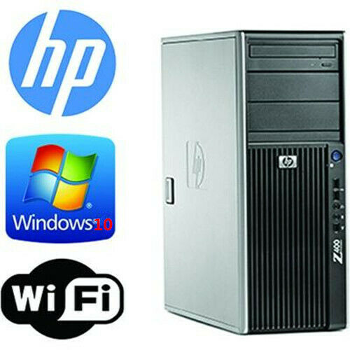 HP Z400 Workstation Xeon X5670 6cores 2.93GHz 12GB 120GB SSD+1TB wifi WIN10