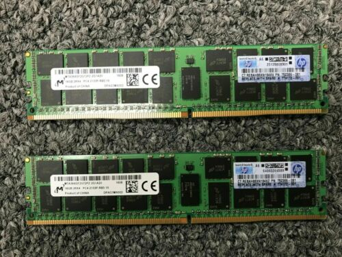 (2X16GB) 32GB DDR4 2Rx4 PC4-2133P ECC Reg 288Pin Server Ram 774172-001