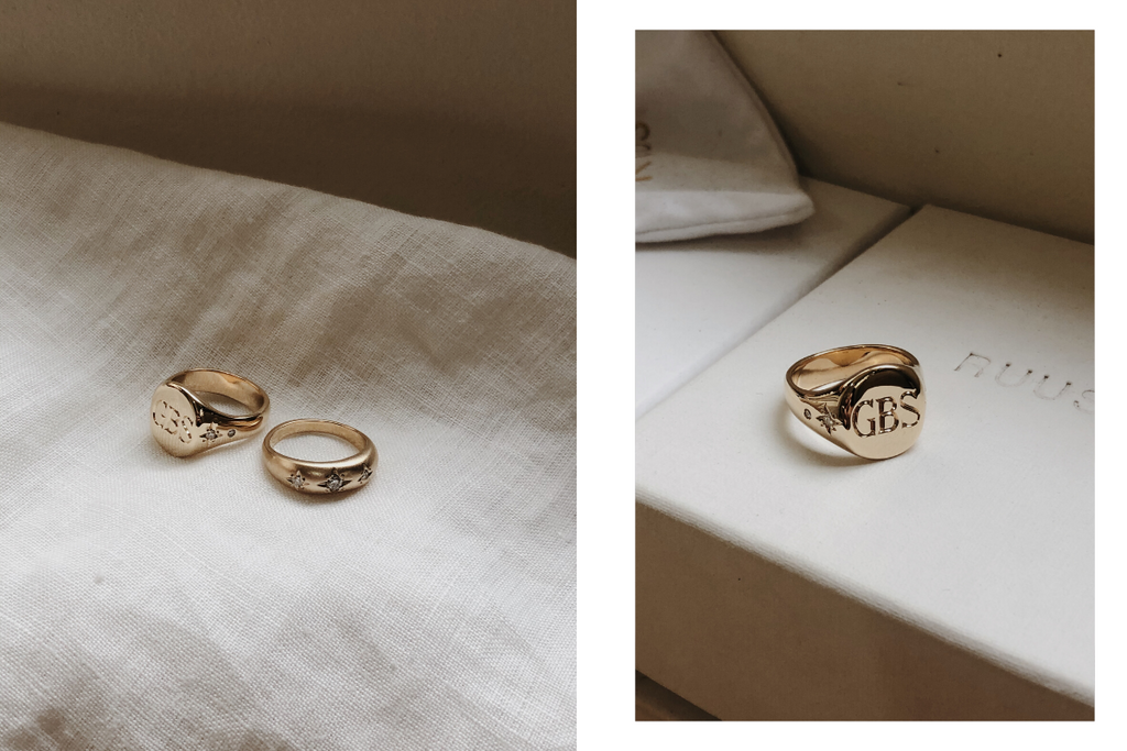 RUUSK custom Signet rings and Diamond Gold rings