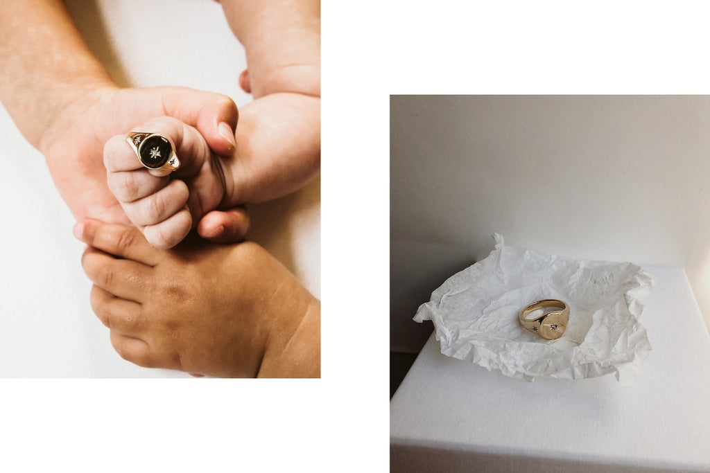 Personalised Diamond Signet ring