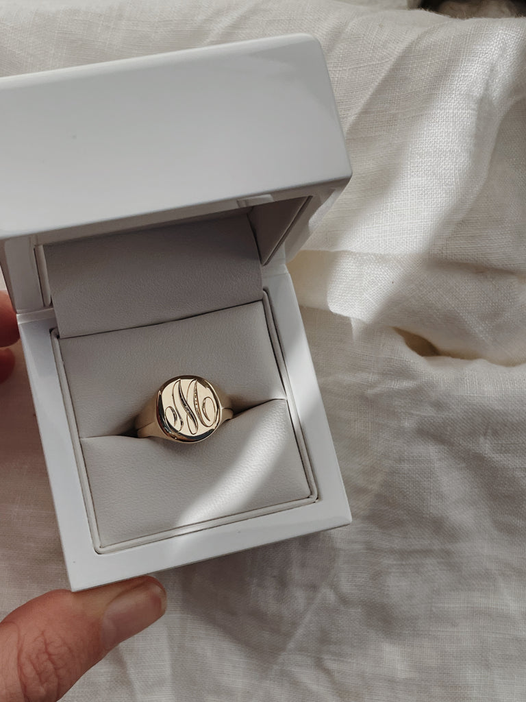Craig's Hand Engraved Classic Signet Ring