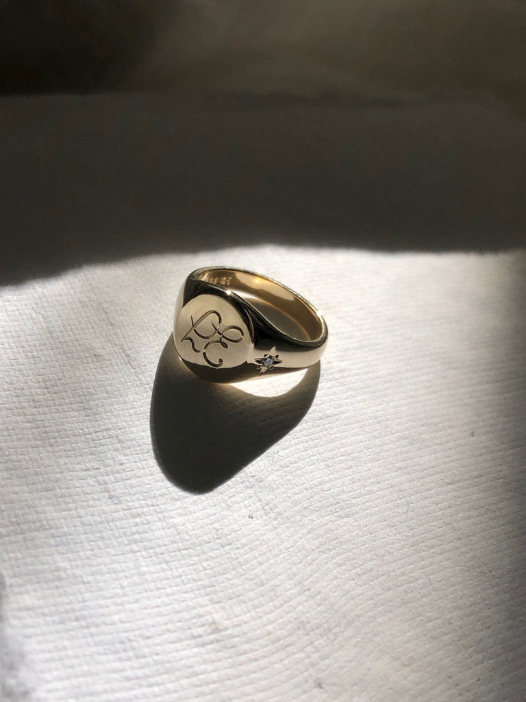 custom signet ring with engraving - RUUSK jewellry
