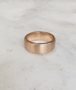 Yellow or Rose Gold 8.5mm Square Band