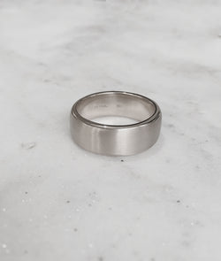 White Gold 8.5mm Square Band