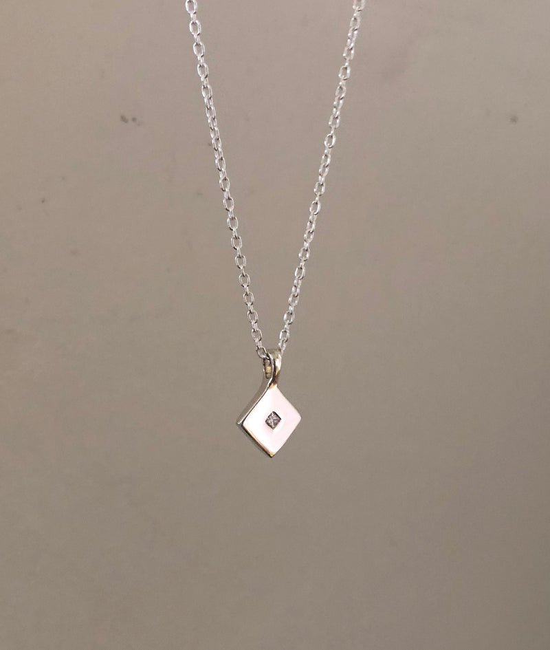 Diamond Square Pendant necklace