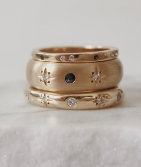 New Moon Yellow Gold ring