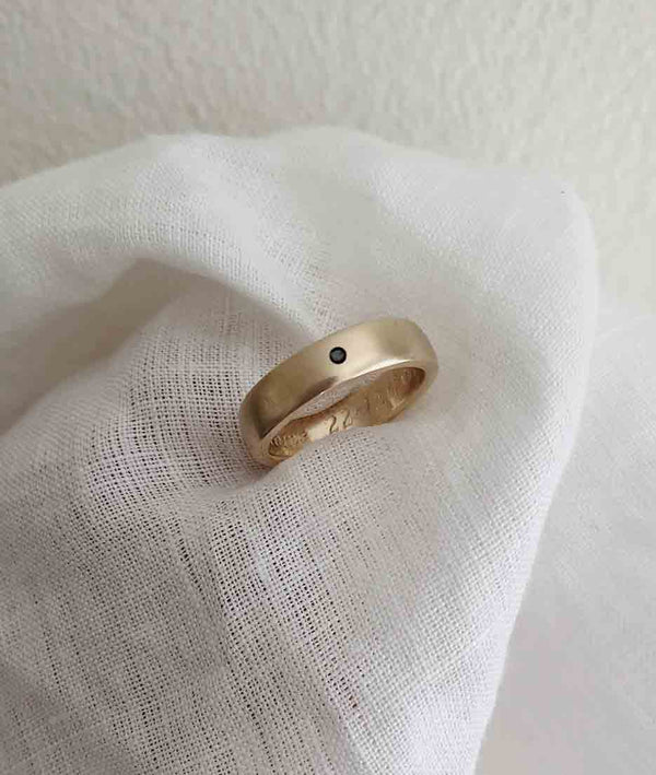 Yellow or Rose Gold 5mm Square ring