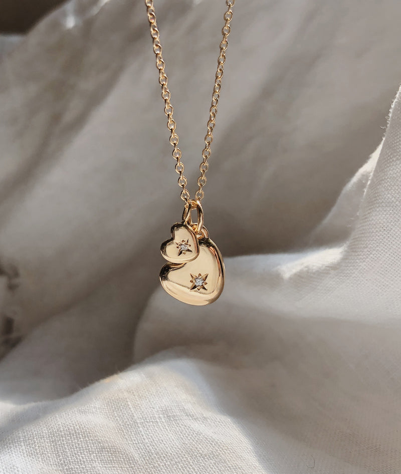 Mama & Baby Heart necklace