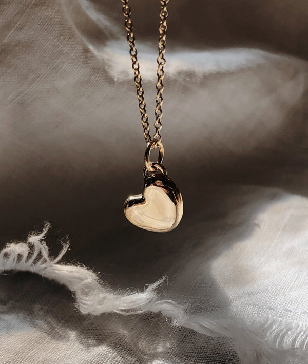 Plain Heart of Gold necklace