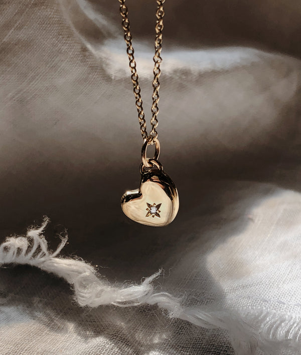 Yellow Gold Heart of Gold necklace