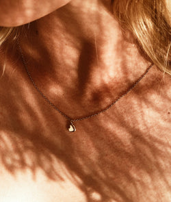 Yellow Gold Plain Tiny Heart of Gold necklace
