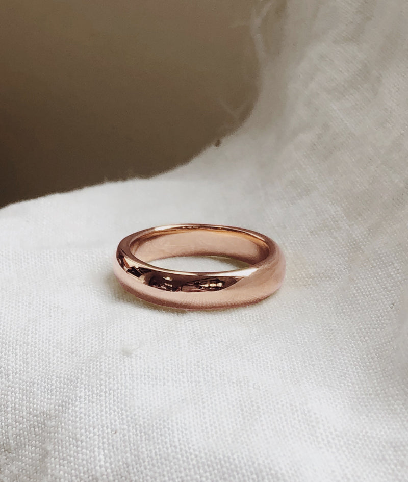 Yellow or Rose Gold 5mm Round Band