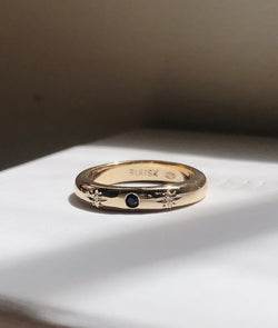 Thin New Moon ring