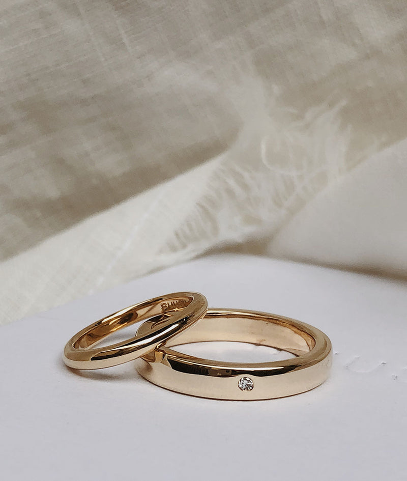 Yellow or Rose Gold 4mm Square ring