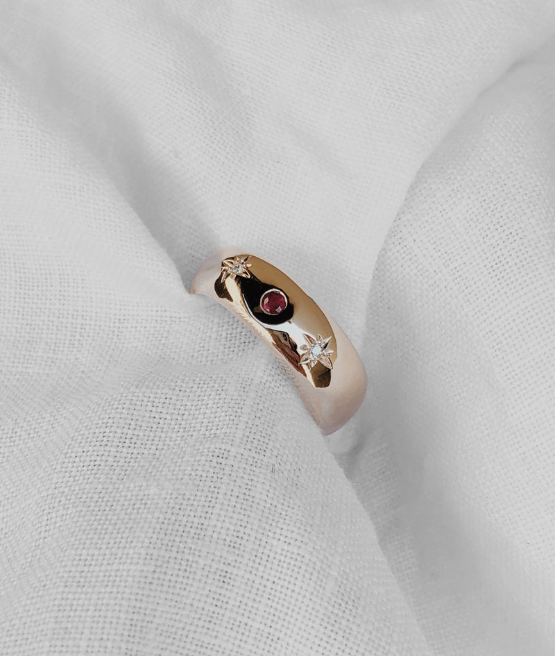 Ruby New Moon ring