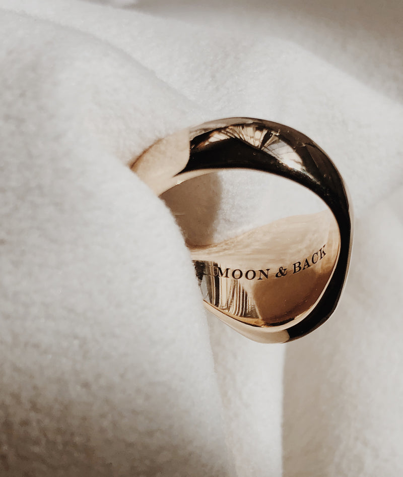 Mens Onyx Large Signet ring