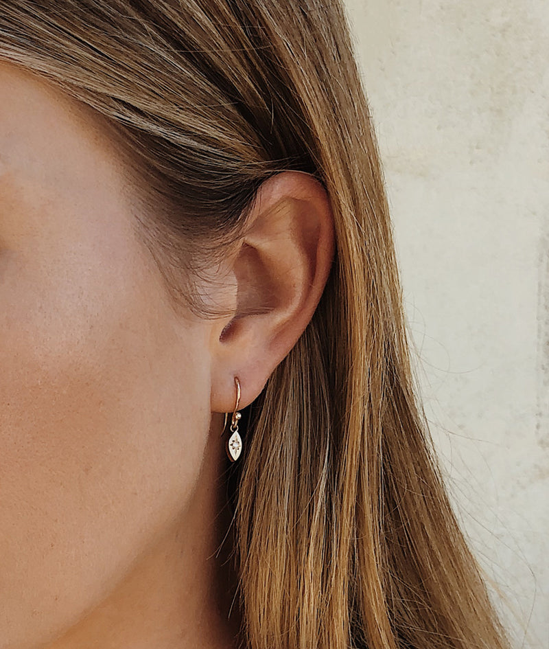 Star-dust dangle earrings