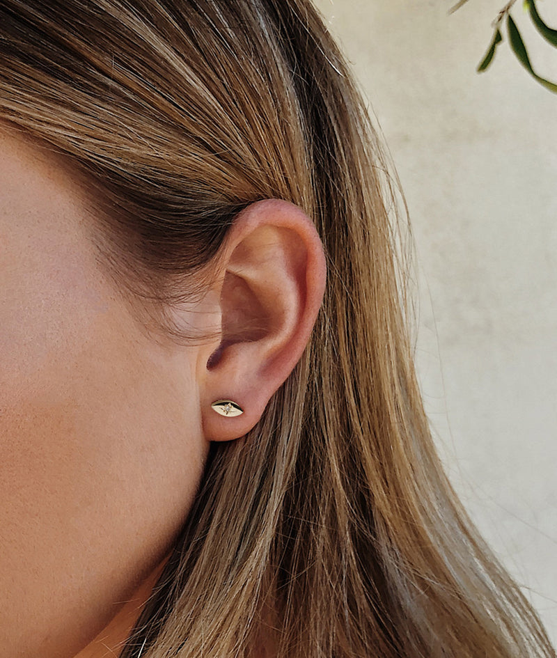 White Gold Star-dust Stud earrings